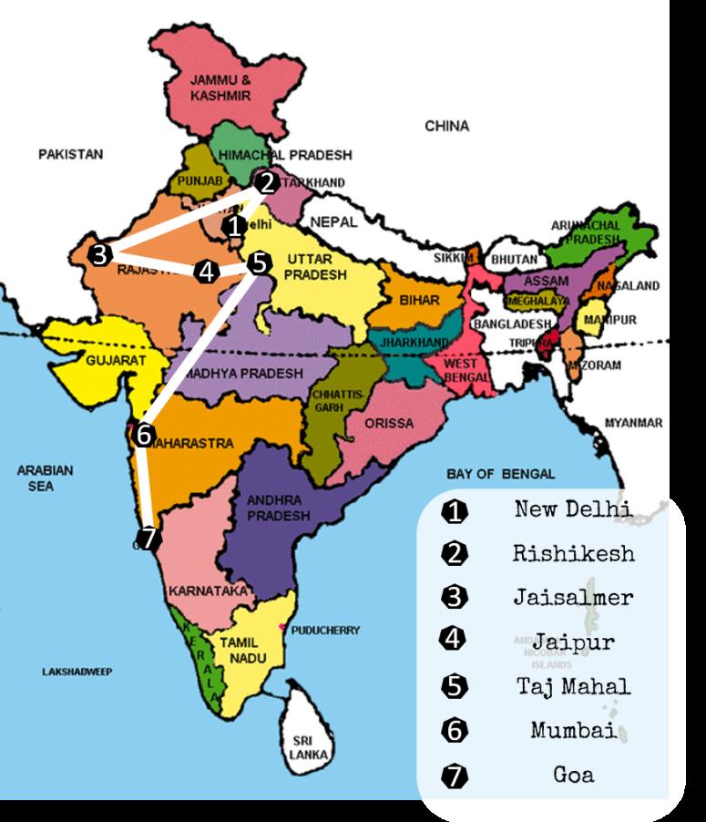 De beste reisbestemmingen in India