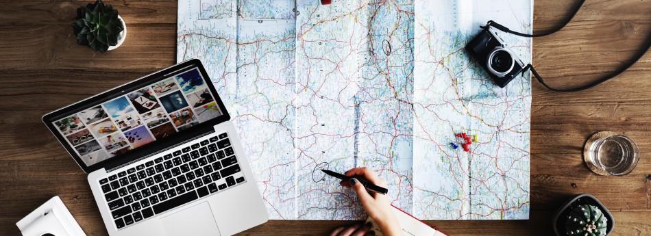 Digitale wereldreis plannen