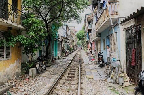 Hanoi trein markt