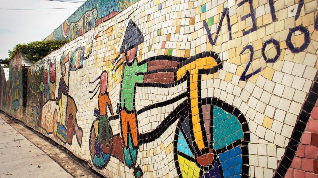 Mozaïken muur Hanoi