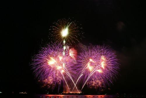 Pattaya vuurwerk nieuwjaar