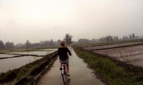 Fietsen in de regen