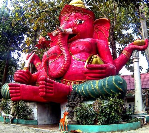 Boeddhistische en hindoeïstische tempel