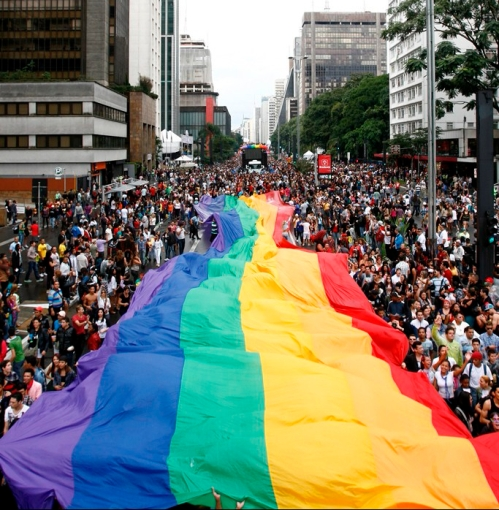 Gay Pride Sao Paulo Brazilië