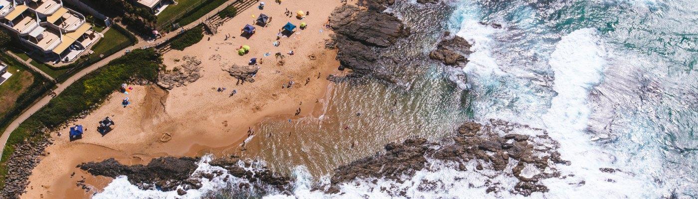 Strand Durban Zuid-Afrika